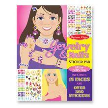Klistermärkesbok - Smycken & nageldekorationer