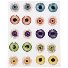 Klistermärken - Ögon 3D, 20 mm, 1 ark