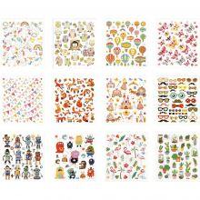 Klistermärken - Diverse, 12 ark