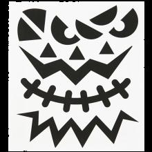 Klistermärken - Halloweenansikten, 1 ark