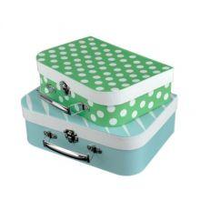 Resväske-set - Blå & grön, 2 st.