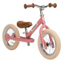 Springcykel - Trybike med två hjul, Rosa