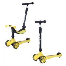 2-i-1 Sparkcykel / Springcykel - Kick'n'Ride, Gul