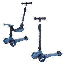 2-i-1 Sparkcykel/Springcykel, Kick'n'Ride, Mörkblå