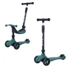 2-i-1 Sparkcykel / Springcykel - Kick'n'Ride, Grön