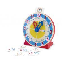 Lär dig klockan - Klocka med inlärningskort