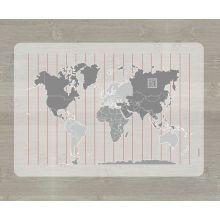 Lärunderlägg - Världskarta