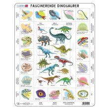Larsen Pussel - Lär dig om dinosaurier, 35 bitar