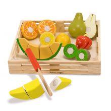 Leksaksmat - Frukter i trälåda
