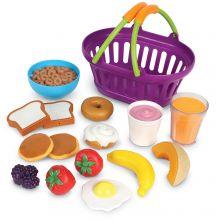 Leksaksmat - Varukorg med frukostmat
