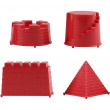 Modellsand tillbehör - Sandformar riddarborg, 4 st