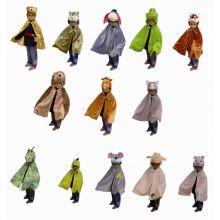 Utklädnings-capes 13 st. - Djur