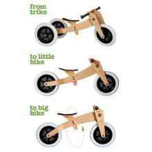 Springcykel - Wishbone 3-i-1 Original trä