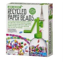 Papperspärlor - Gör själv av återvunnet papper