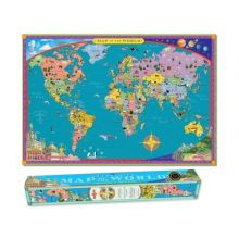 Världskarta - laminerad