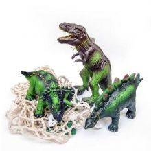 Djur i 100% naturgummi - Dinosaurier, 3 st.