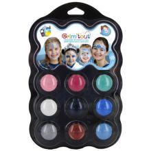 Ansiktsmålning - Palett med 9 färger - Vinter