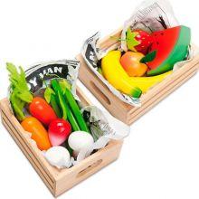Leksaksmat - Låda med frukt eller grönsaker