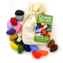Färgkritor - Crayon Rocks 16 st. i tygpåse