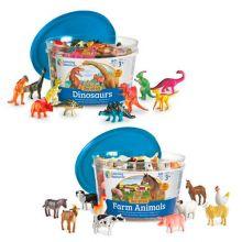 Räkna & Sortera - Bondgårdsdjur eller Dinosaurier
