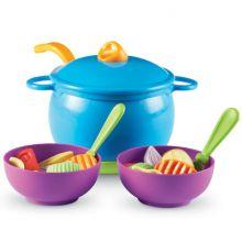 Leksaksmat - Soppgryta med skålar