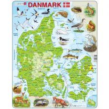 Larsen pussel - Danmarkskarta