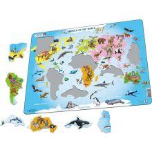Larsen pussel - Världens djur, 28 bitar