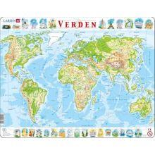 Larsen pussel - Världskarta