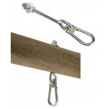 Gungtillbehör - Krok med karbinhake, 160 mm