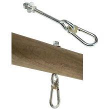 Gungtillbehör - Krok med karbinhake, 140 mm