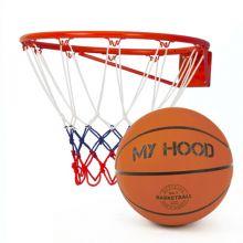 Basketkorg med boll