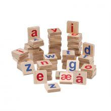 Träbokstäver, små, med magneter