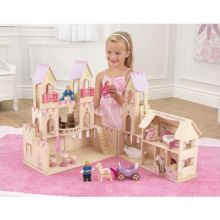 Prinsesslott med dockor