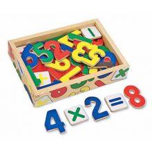 Träsiffror med magneter