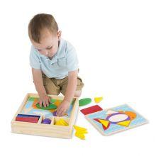 Geometri-pussel i låda