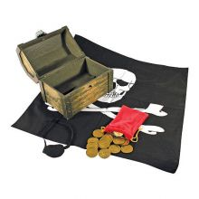 Utklädnad - Pirat med skattkista