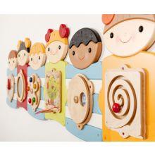 Väggpanel - Söta barn, 7 paneler