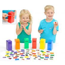 Lägg färgen i brevlådan - Inlärningsspel
