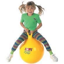 Hoppboll 45 cm gul