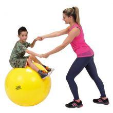 Gymnastikboll 75 cm gul