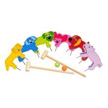 Trädgårdsspel - Krocket med djur