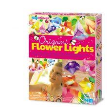 Gör din egen ljusslinga m. blommor - origami