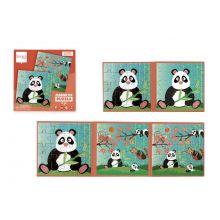 Magnetpussel i bok - Pandabjörn