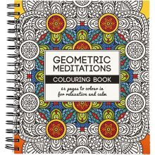 Målarbok Mindfullness - Geometri, 64 sidor