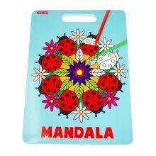 Målarbok Mandala med handtag - Nyckelpigor