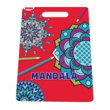Målarbok Mandala med handtag - Former