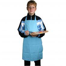 Målarförkläde blå, 7-12 år