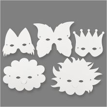 Masker i papp, 5 st.