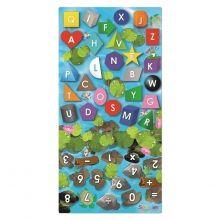Inlärningsmatta - Form, färger, siffror, bokstäver