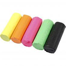 Modellera Soft Clay - Neonfärger, 400 g